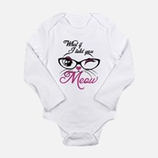 what if I told you Meo Long Sleeve Infant Bodysuit
