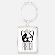 Viva La French Bulldog Keychains