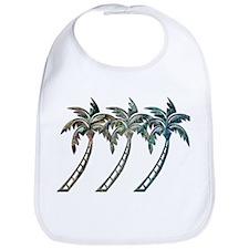 Palm Trees in Paua Shell Textures Bib