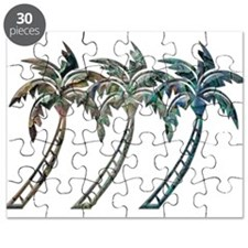 Palm Trees in Paua Shell Textures Puzzle