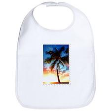 Palm Tree Sunset Stamp Bib