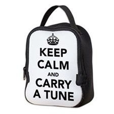 Keep Calm and Carry a Tune Neoprene Lunch Bag