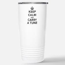 Keep Calm and Carry a T Travel Mug