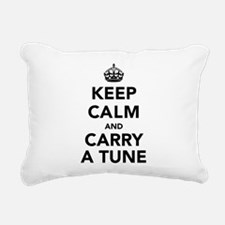 Keep Calm and Carry a Tu Rectangular Canvas Pillow