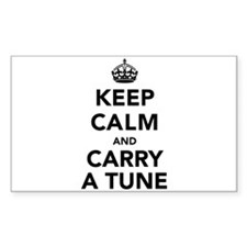 Keep Calm and Carry a Tune Decal