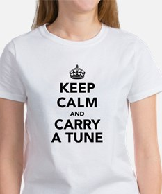 Keep Calm and Carry a Tune Women's T-Shirt