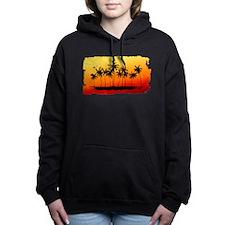 Palm Shadows at Sunset Women's Hooded Sweatshirt