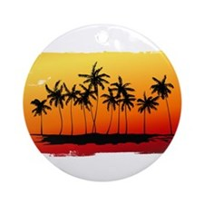 Palm Shadows at Sunset Ornament (Round)