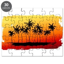 Palm Shadows at Sunset Puzzle