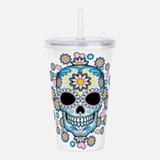 Colorful Sugar Skull Acrylic Double-Wall Tumbler