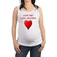 i love archery Maternity Tank Top