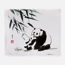 Mom and Child_Panda Throw Blanket