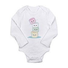 Cute Marshmallow Long Sleeve Infant Bodysuit