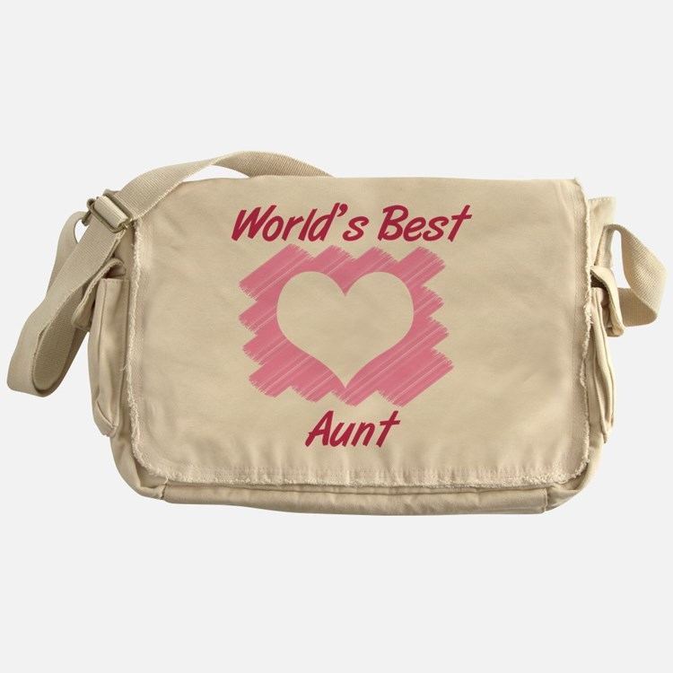 World's Best Aunt (Heart) Messenger Bag
