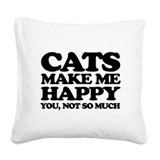 Funny cats Square Canvas Pillows