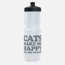 Cats Make Me Happy Sports Bottle
