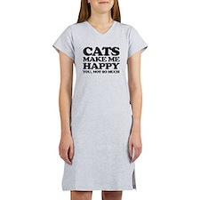 Cats Make Me Happy Women's Nightshirt