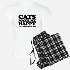 Cats Make Me Happy Pajamas