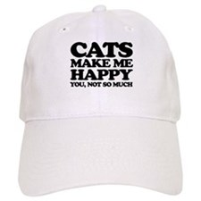 Cats Make Me Happy Baseball Baseball Baseball Cap