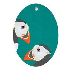 Puffin Ornament (oval)