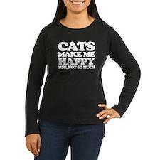 Cats Make Me Happy Long Sleeve T-Shirt