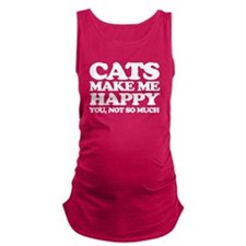 Cats Make Me Happy Maternity Tank Top