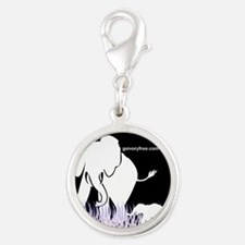 Elephant Lover Silver Round Charm