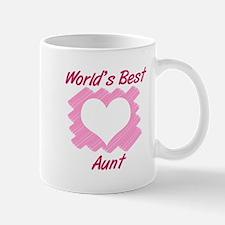 World's Best Aunt (Heart) Mugs