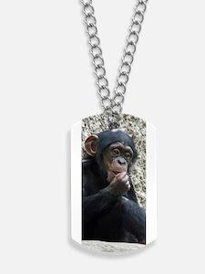 Chimpanzee002 Dog Tags