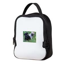 Pug Puppy Neoprene Lunch Bag