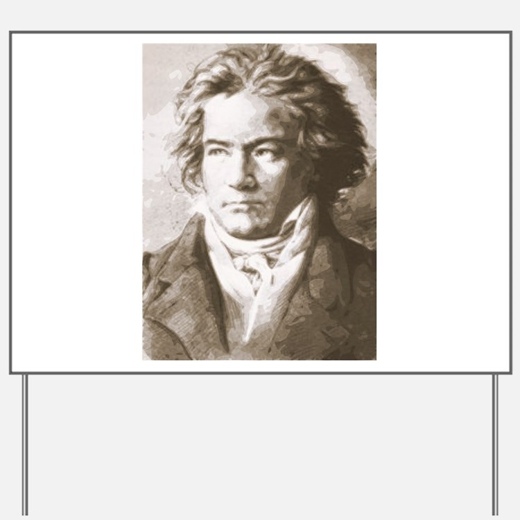 Beethoven In Sepia Yard Sign