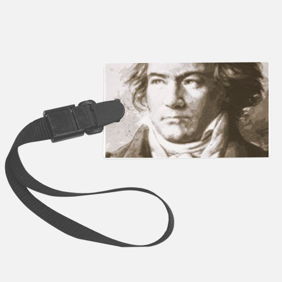 Beethoven In Sepia Luggage Tag