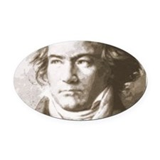 Beethoven In Sepia Oval Car Magnet