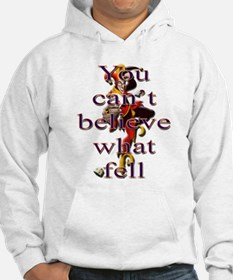 You Can't Believe What Fell Hoodie