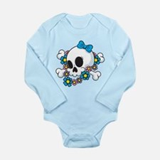 Flower Power Skull Body Suit