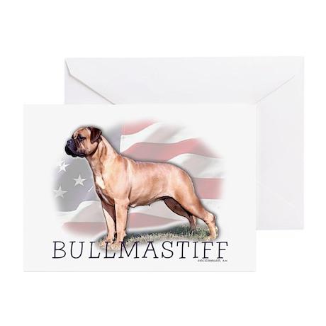 Bullmastiff Watercolor Greeting Cards (6)