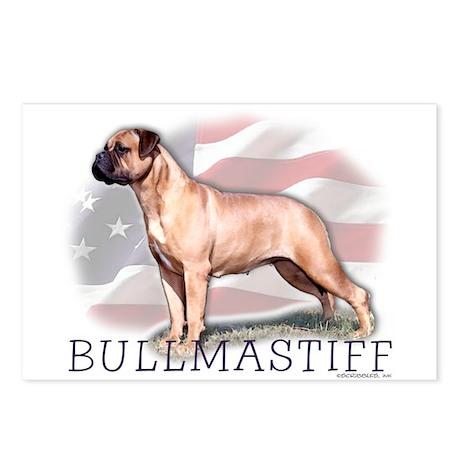 Bullmastiff Watercolor Postcards (8)