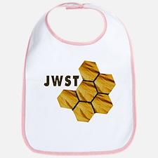 James Webb Mirror Logo Cotton Baby Bib