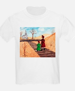 Izzie and Anna Go to Church T-Shirt