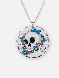 Flower Power Skull Necklace