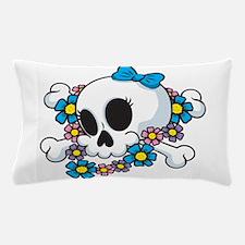 Flower Power Skull Pillow Case