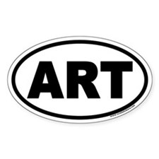 Art Oval Decal