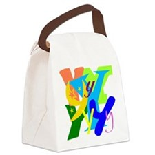 Initial Design (Y) Canvas Lunch Bag