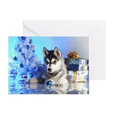Husky Holiday Greeting Card