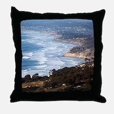 La Jolla and Del Mar Throw Pillow