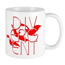 Divergent Fashion Red Mugs