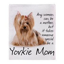 Yorkie Mom Throw Blanket
