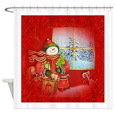 Snowman Days Shower Curtain