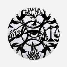 Faction Diverge Black Ornament (Round)
