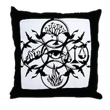Faction Diverge Black Throw Pillow